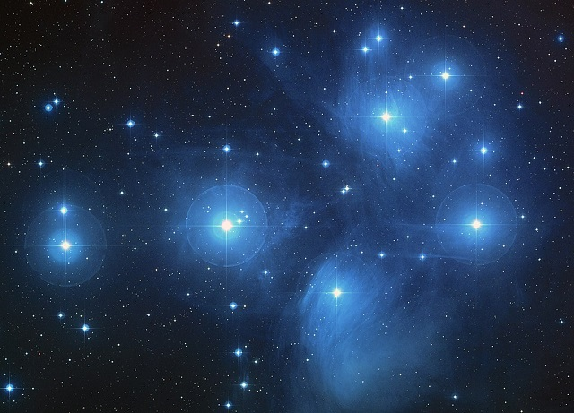 Pleiades constellation also known as the Seven sisters